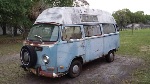 1972 VW Bus Camper Hi Top For Sale in Plant City, FL