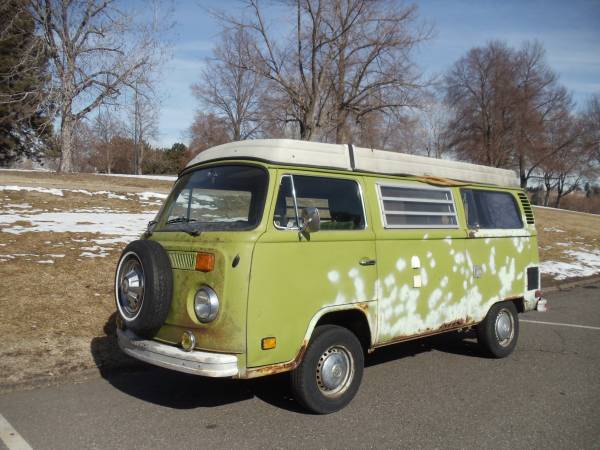 1977 vw bus camper westfalia for sale in arvada co. Black Bedroom Furniture Sets. Home Design Ideas