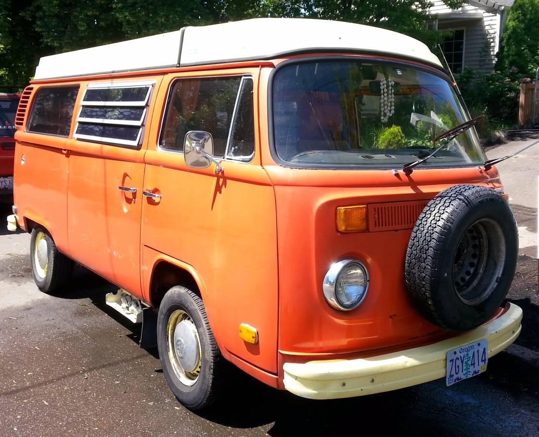 1975 vw bus camper westfalia for sale in portland or. Black Bedroom Furniture Sets. Home Design Ideas