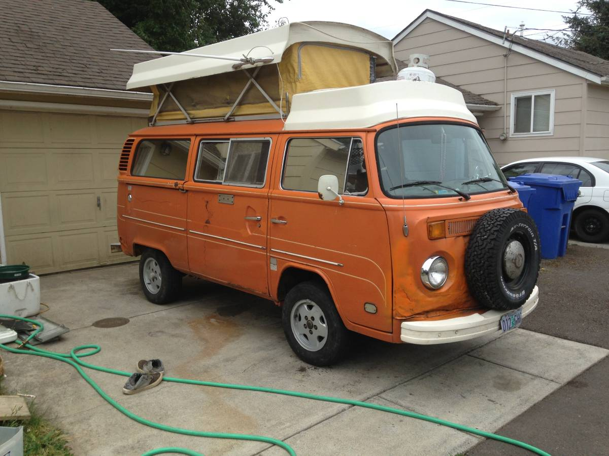 1979 VW Bus Camper Pop Top w/ 2.3L Ford Motor For Sale in ...