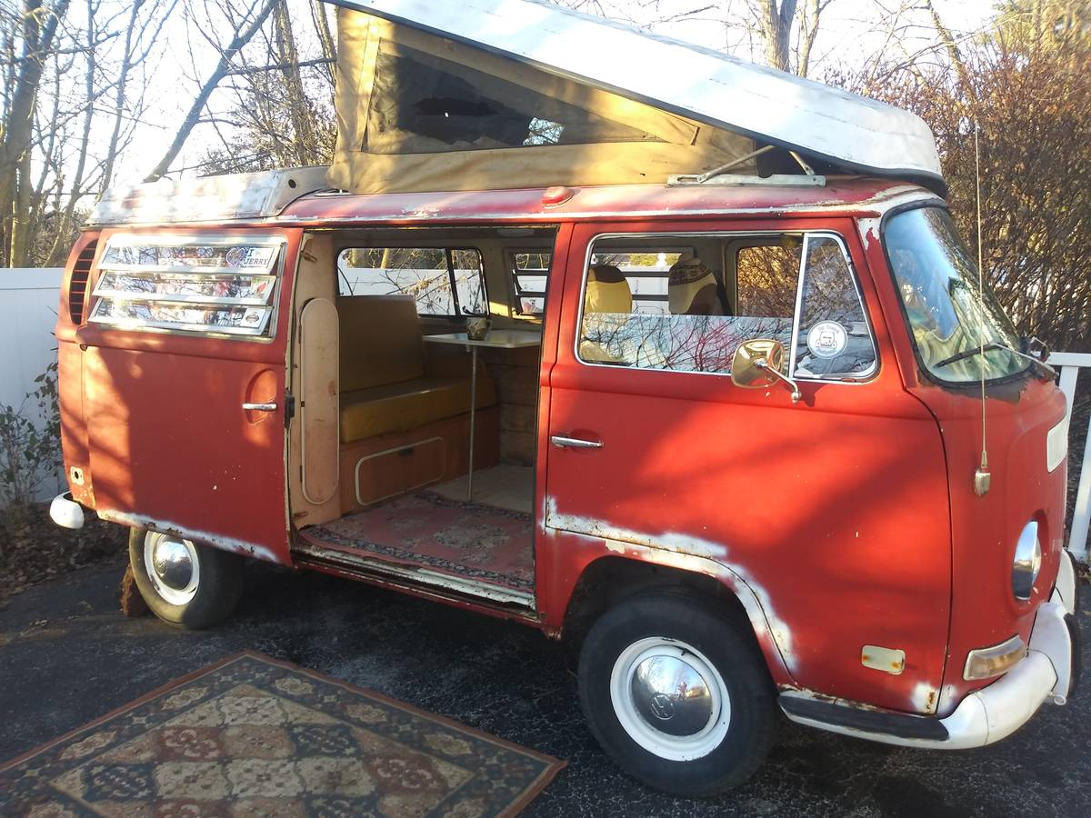 1970 Vw Bus Camper 4cyl Manual For Sale In Manchester Mo